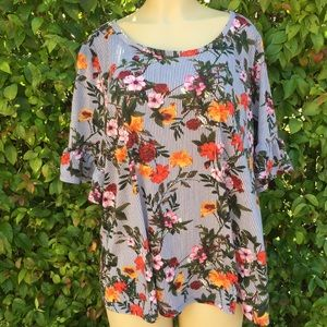 Tops - Plus Size Long Sleeves Top Floral Size 3x
